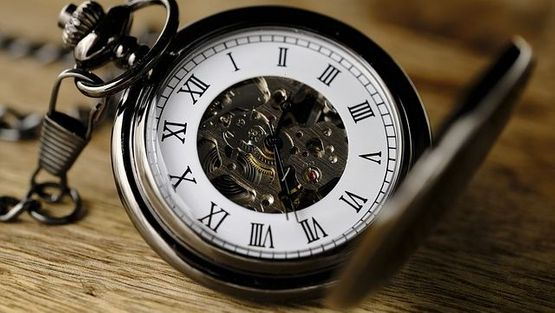 A repaired pocket watch